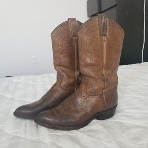 Frye Real Leather Cowboy Boots